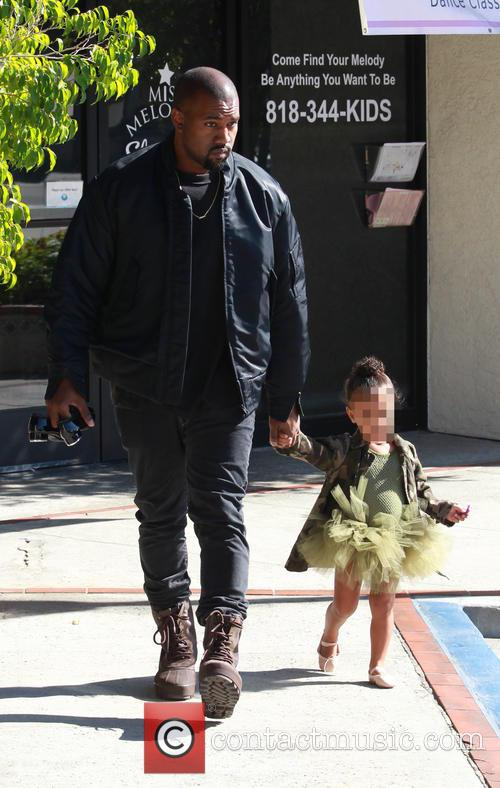 Kanye West and North West 3
