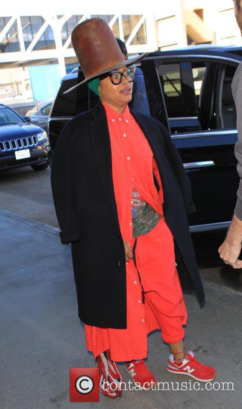 Erykah Badu departs from LAX