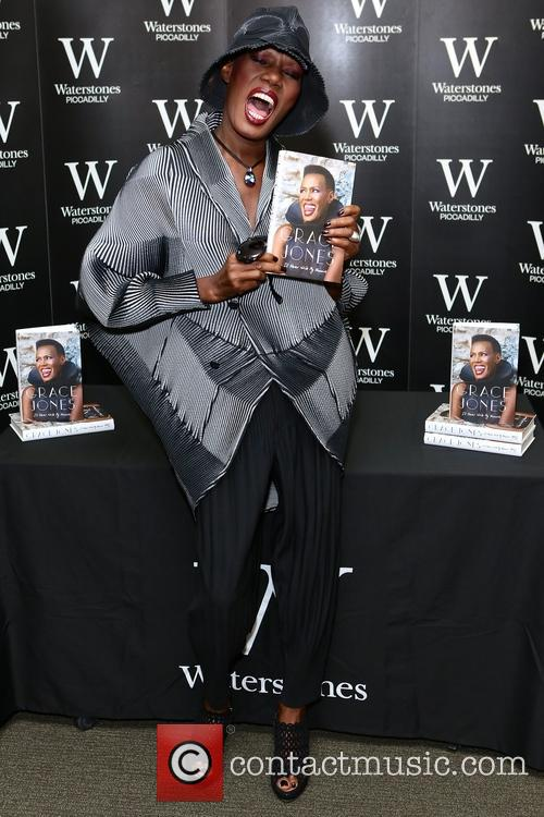 Grace Jones at Waterstones, Piccadilly