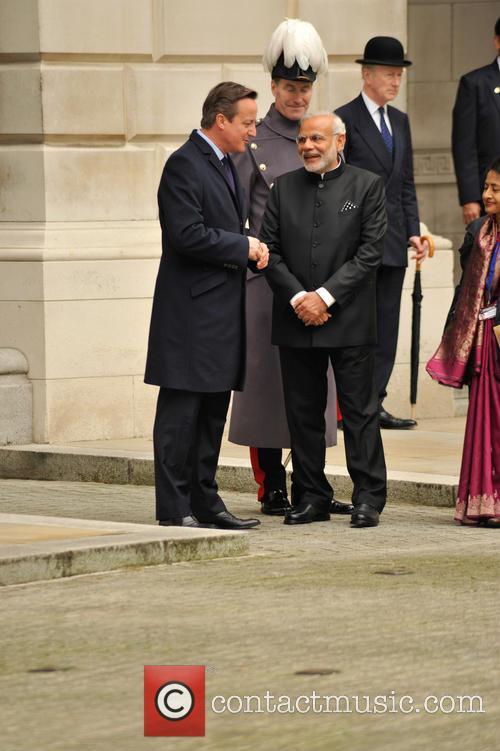 Prime Minister Modi and David Cameron 6