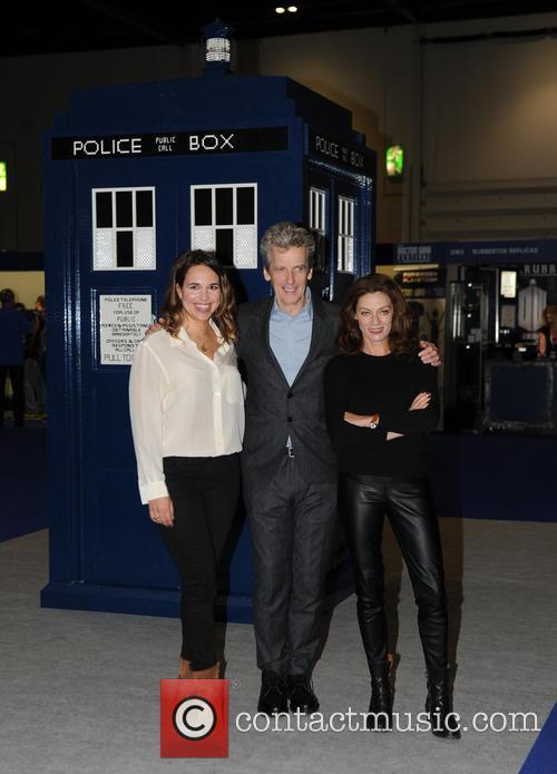 Michelle Gomez, Ingrid Oliver and Peter Capaldi 2
