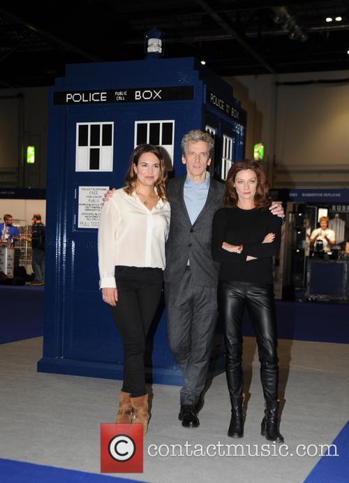Michelle Gomez, Ingrid Oliver and Peter Capaldi 4