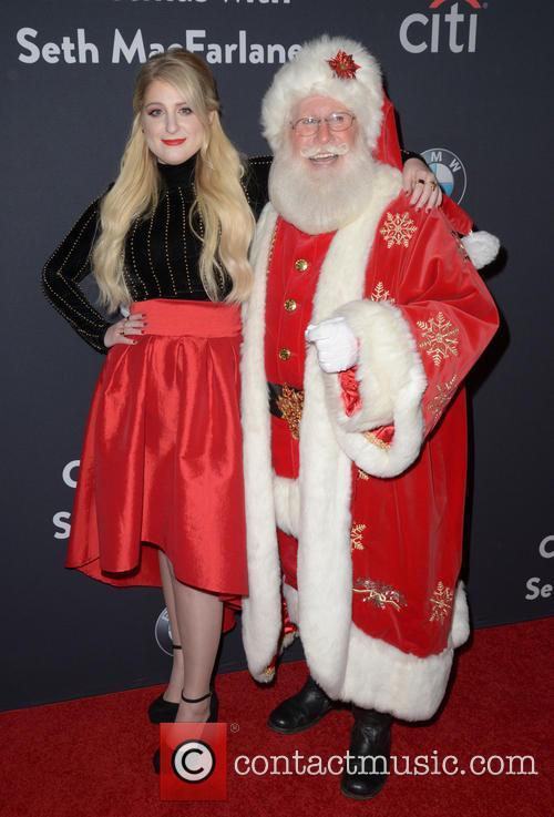 Meghan Trainor and Santa Claus 5
