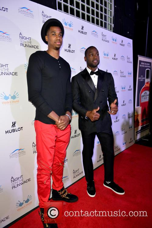 Hassan Whiteside and Dwyane Wade 4