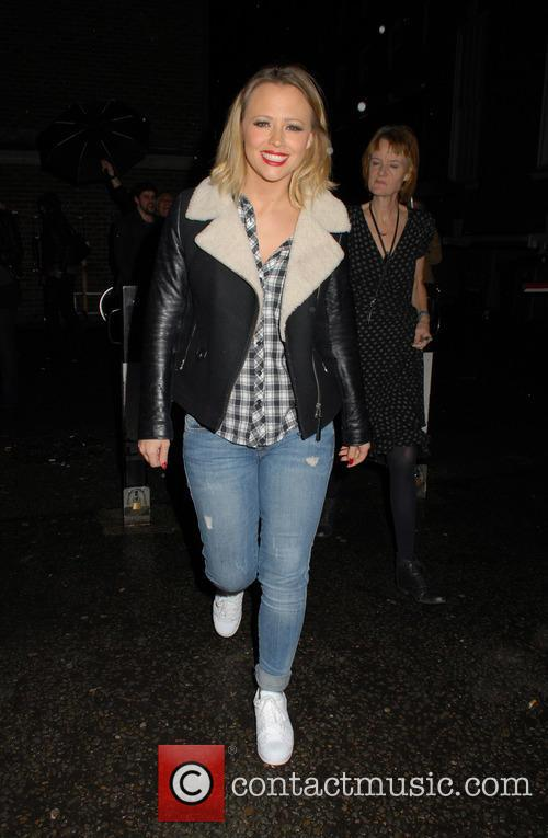 Kimberley Walsh leaving the Dominion Theatre
