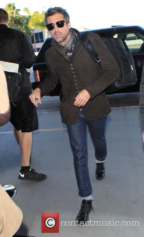 Patrick Dempsey departs on a flight from Los...