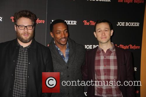 Seth Rogen, Anthony Mackie and Joseph Gordon-levitt