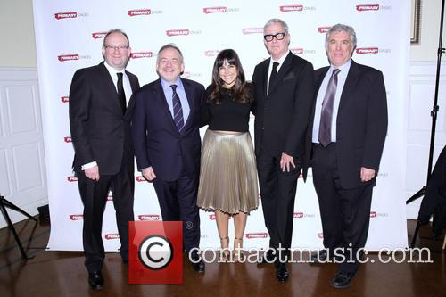 Andrew Leynse, Marc Shaiman, Michelle Bossy, Scott Wittman and Casey Childs 1