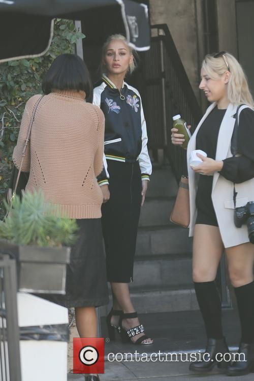 Cara Santana visits Alfred's Cafe in West Hollywood