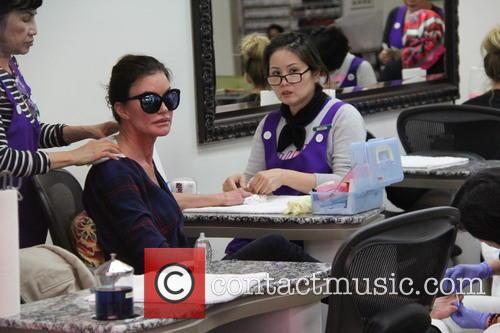 Janice Dickinson at a nail salon in Beverly...