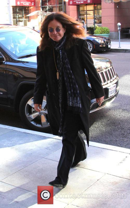 Ozzy Osbourne out and about running errands