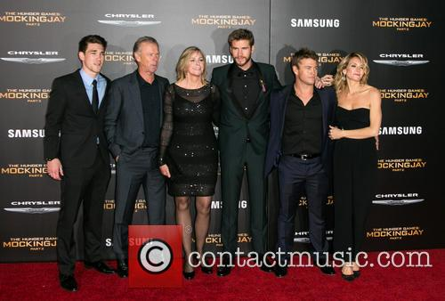 Liam Hemsworth, Luke Hemsworth and Family