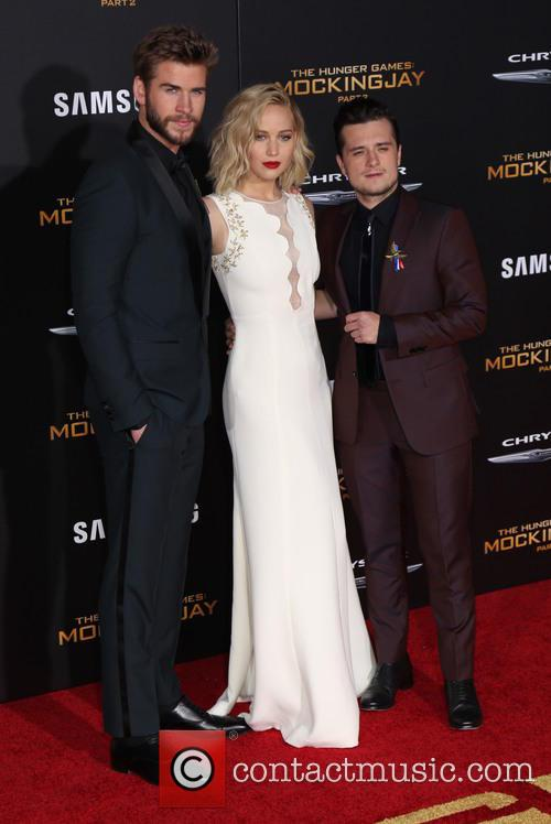 Liam Hemsworth, Jennifer Lawrence and Josh Hutcherson 1