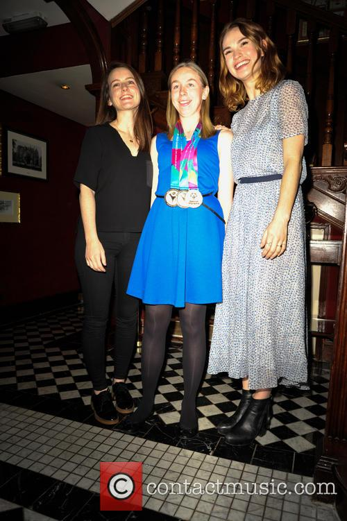 Sophie Mcshera, Georgina Matton and Lily James 6