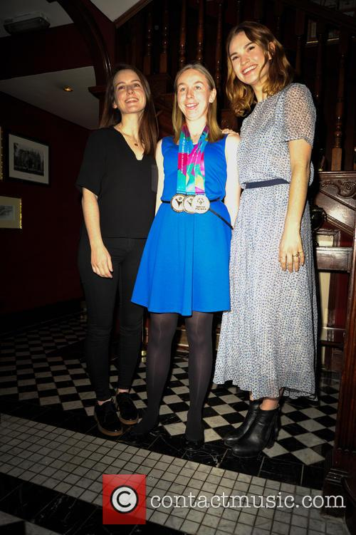 Sophie Mcshera, Georgina Matton and Lily James 7