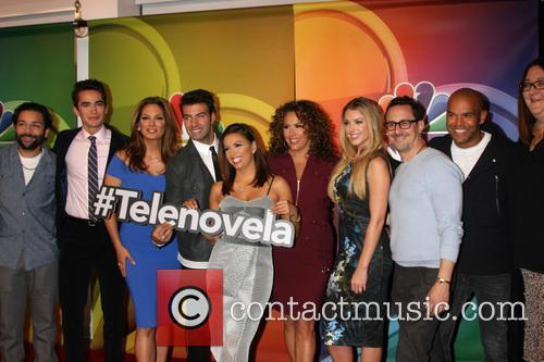 Izzy Diaz, Jose Moreno Brooks, Alex Meneses, Jencarlos Canela, Eva Longoria, Diana Maria Riva, Jadyn Douglas and Amaury Nolasco 5