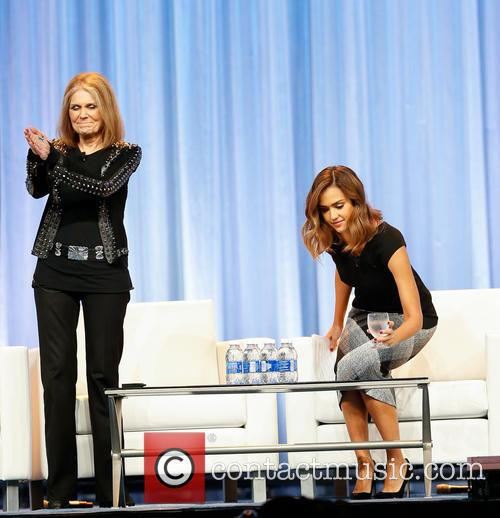 Jessica Alba and Gloria Steinem 2