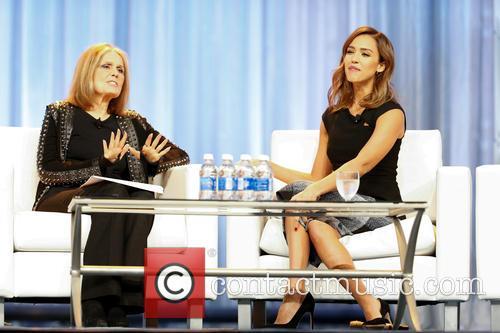 Jessica Alba and Gloria Steinem