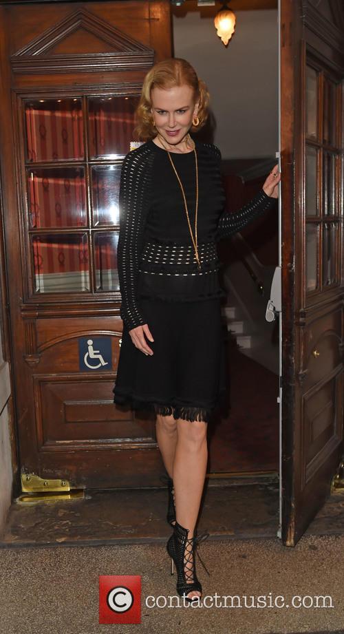 Nicole Kidman leaves the Noël Coward Theatre