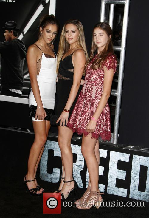 Creed, Sistine Rose Stallone, Sophia Rose Stallone and Scarlet Rose Stallone 4