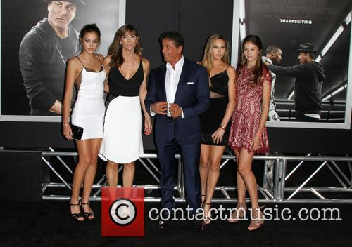 Sistine Rose Stallone, Jennifer Flavin, Sylvester Stallone, Sophia Rose Stallone and Scarlet Rose Stallone 2