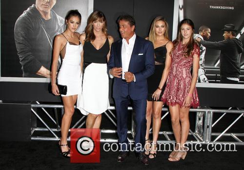 Sistine Rose Stallone, Jennifer Flavin, Sylvester Stallone, Sophia Rose Stallone and Scarlet Rose Stallone 3