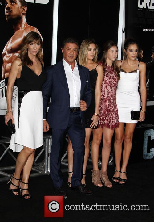 Sistine Rose Stallone, Jennifer Flavin, Sylvester Stallone, Sophia Rose Stallone and Scarlet Rose Stallone 4