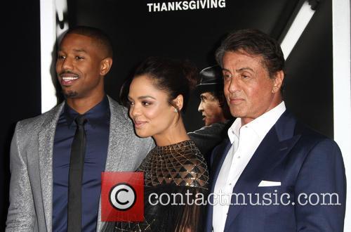 Michael B. Jordan, Jill Marie Jones and Sylvester Stallone 4