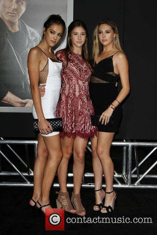 Creed, Sistine Rose Stallone, Sophia Rose Stallone and Scarlet Rose Stallone 6