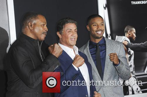 Carl Weathers, Sylvester Stallone and Michael B. Jordan 1