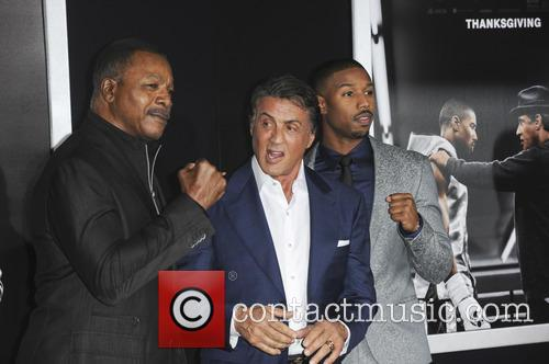 Carl Weathers, Sylvester Stallone and Michael B. Jordan 2