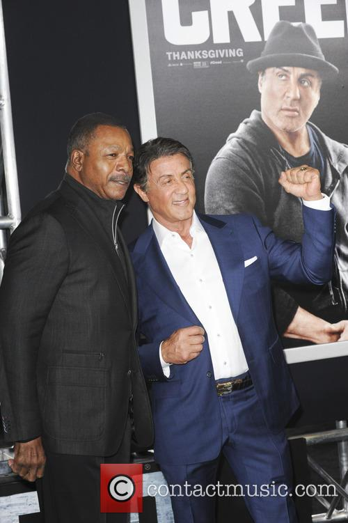 Carl Weathers and Sylvester Stallone 4