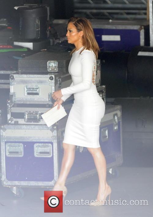 Jennifer Lopez arrives for 'American Idol' filming in...