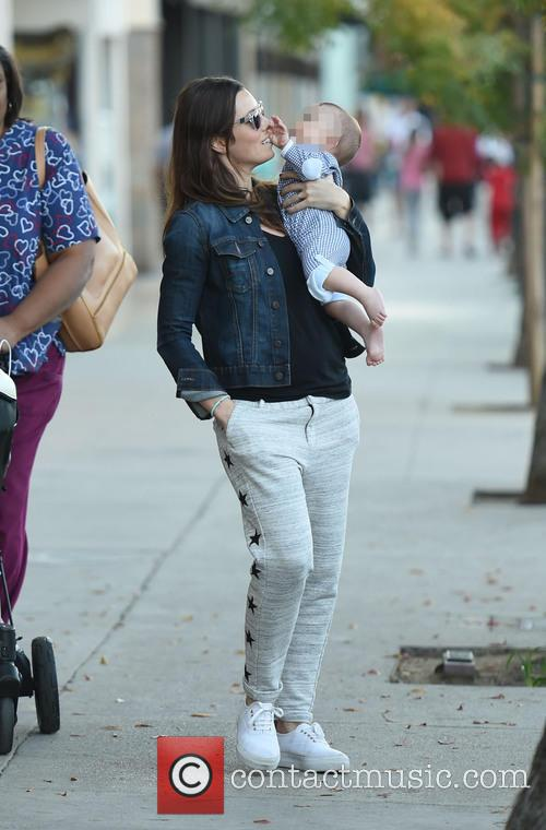 Jessica Biel spotted out strolling with her son...