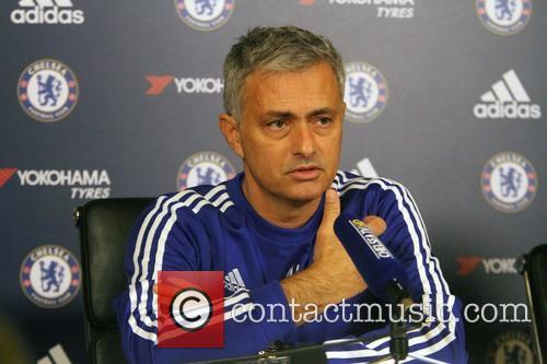 Jose Mourinho attends the Chelsea Press Conference