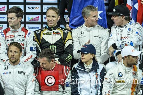 Jenson Button, Tom Kristensen, Susie Wolff, Jason Plato, David Coulthard and Peter Solberg 8