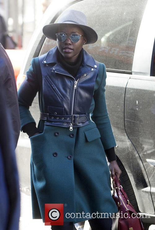 Lupita Nyong'o arrives at the Public Theater for...