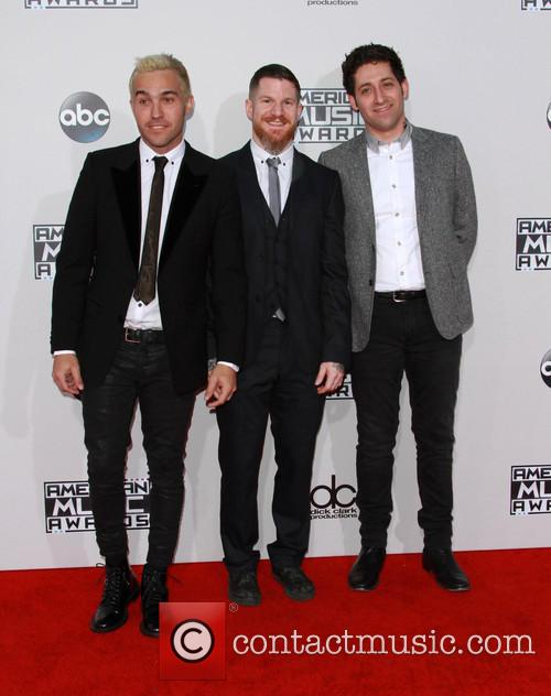 Joe Trohman, Pete Wentz and Patrick Stump Of Fall Out Boy