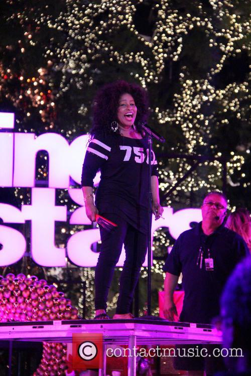 Chaka Khan perfoming on stage at The Grove