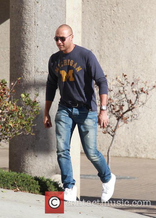 Derek Jeter leaving Citibank in Beverly Hills