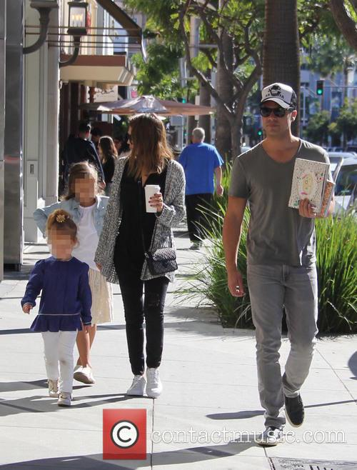 Jessica Alba, Cash Warren, Honor Warren and Haven Warren