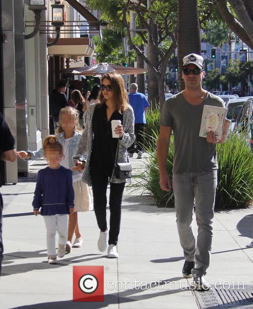 Jessica Alba, Cash Warren, Honor Warren and Haven Warren 2