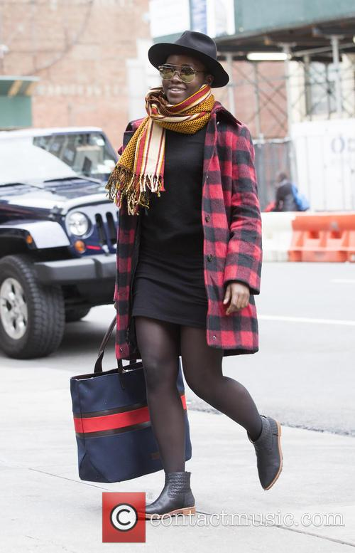 Lupita Nyong'o arrives for the matinee of 'Eclipsed'