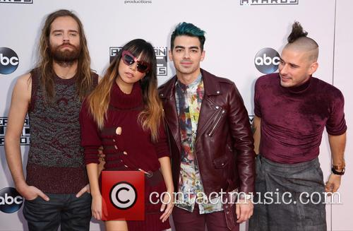 Cole Whittle, Jinjoo Lee, Joe Jonas, Jack Lawless and Dnce 3