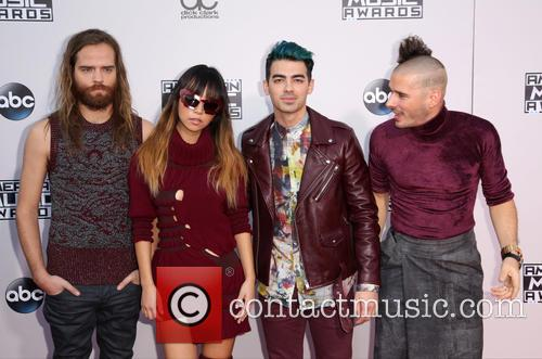 Cole Whittle, Jinjoo Lee, Joe Jonas, Jack Lawless and Dnce 4