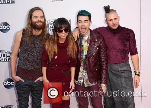 Cole Whittle, Jinjoo Lee, Joe Jonas, Jack Lawless and Dnce 6