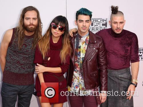 Cole Whittle, Jinjoo Lee, Joe Jonas, Jack Lawless and Dnce 7