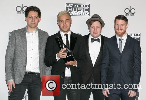 Joe Trohman, Pete Wentz, Patrick Stump, Andy Hurley and Fall Out Boy 2