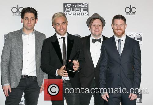 Joe Trohman, Pete Wentz, Patrick Stump, Andy Hurley and Fall Out Boy 3