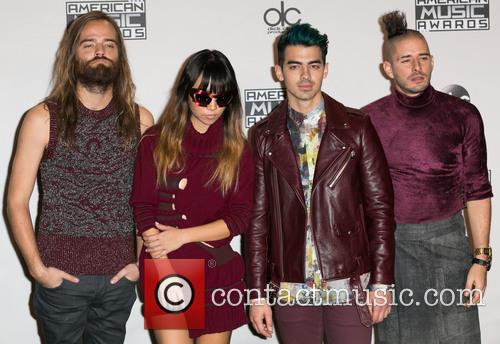 Jack Lawless, Jinjoo Lee, Joe Jonas, Cole Whittle and Dnce 4